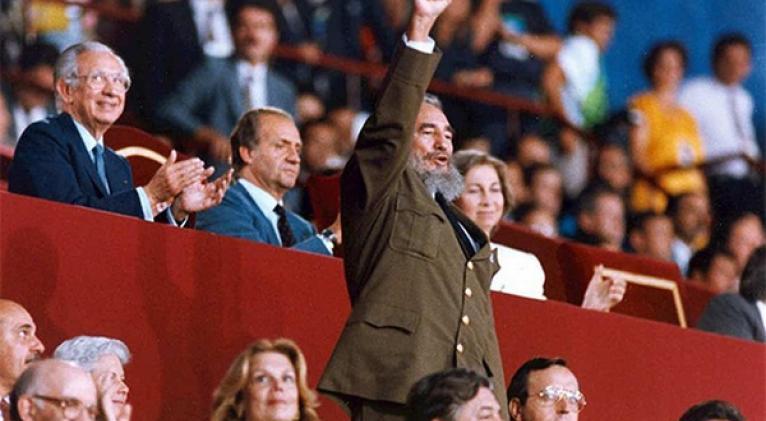 1992 fidel_en_barcelona