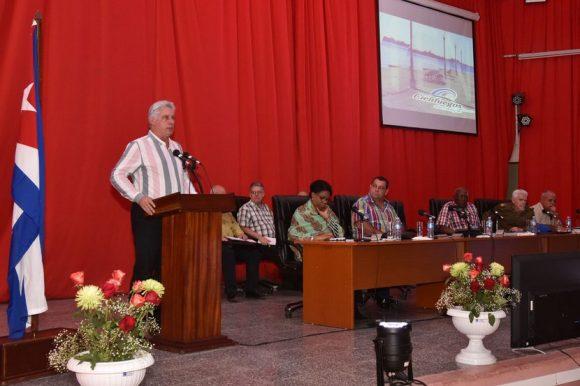 Diaz Canel en resumen visita de Gobierno a Cienfuegos 580x386
