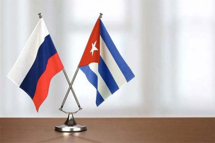 Rusia Cuba banderas