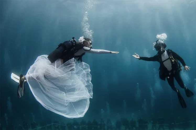 boda submarina