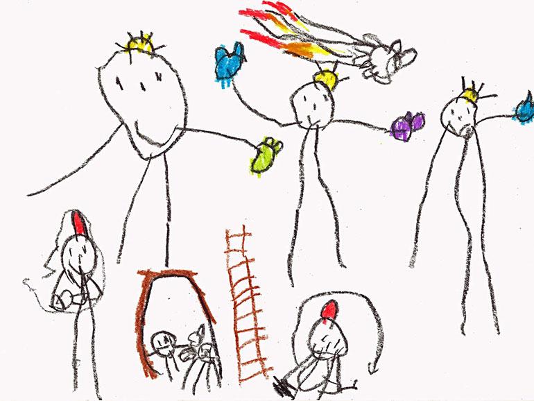 dibujos ninos cabezas