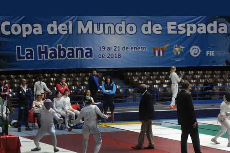 Comienza en La Habana Copa del Mundo de Espada Femenina — Esgrima