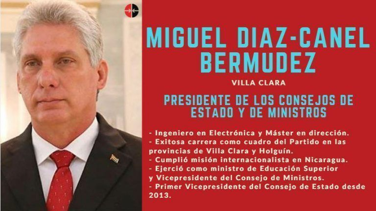 Eligen a Miguel Díaz-Canel presidente de Cuba