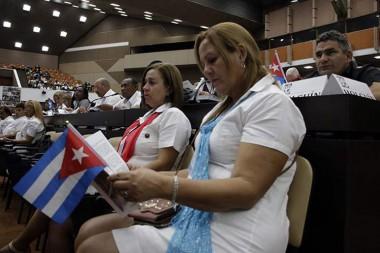Delegadas del XXI congreso de trabajadores