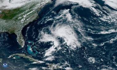 La tormenta subtropical Andrea en el Atlántico noroccidental el 20 de mayo de 2019. Imagen: NOAA