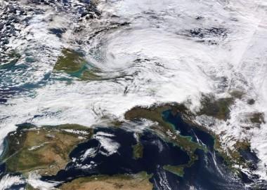 Mapa de la tormenta invernal Friederike