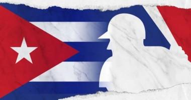 Imagen alegórica a la presencia de peloteros cubanos en ligas internacionales de béisbol.