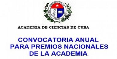 Premios Nacionales de la Academia de Ciencias de Cuba