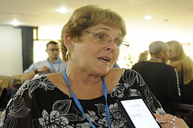 presidenta del Comité Organizador del X Congreso Nacional de Alergología, Cuba Alergia 2019, Mirta Álvarez,