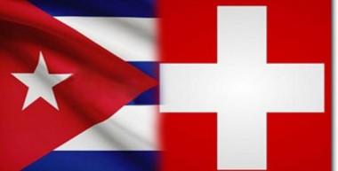 Banderas de Suiza y Cuba