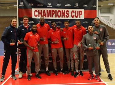 ntegrantes del Todos Estrellas de la Copa de Campeones de NORCECA de Voleibol. Foto: NORCECA