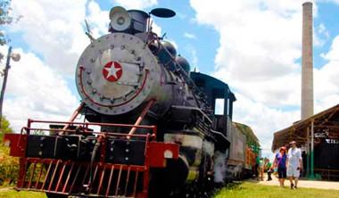 Locomotoras y los molinos de los ingenios cubanos.