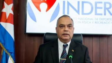 Osvaldo Vento Montiller, presidente del Instituto Nacional de Deportes, Educación Física y Recreación (Inder).