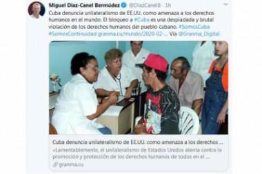 Reafirma Díaz-Canel postura de Cuba por el multilateralismo y la paz