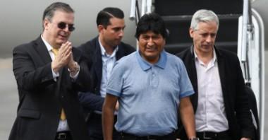Llegada de Evo Morales a México