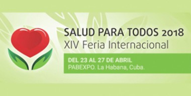 Banner alegórico a la XIV Feria Internacional Salud para Todos