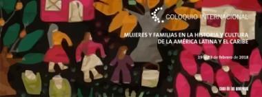 Banner alegórico Coloquio Internacional de la Mujer de la Casa de las Américas.