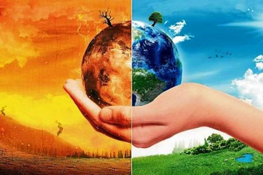 Imagen aleg\orica al cambio climático