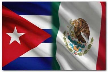 Banderas de Cuba y México