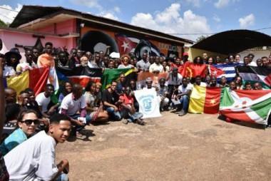 Integrantes de la Brigada Juvenil Internacional