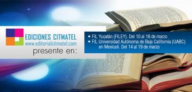 Banner alegórico a la participación de Citmatel en las Ferias Internacionales del Libro