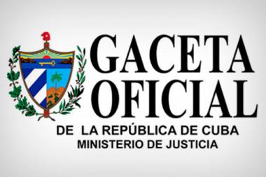 Banner alegórico a la Gaceta Oficial de la República de Cuba