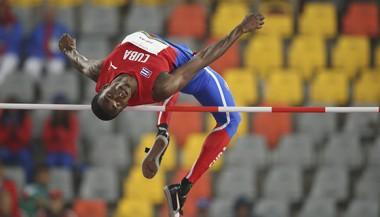 El saltador de altura Luis Enrique Zayas