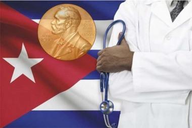 Imagen alegórica a la solidaridad médica cubana