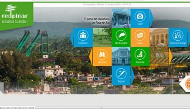 Captura de pantalla del Portal del Ciudadano de Pinar del Río.