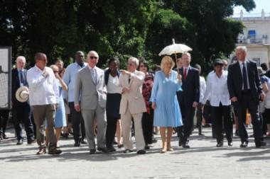 Realeza británica en Cuba