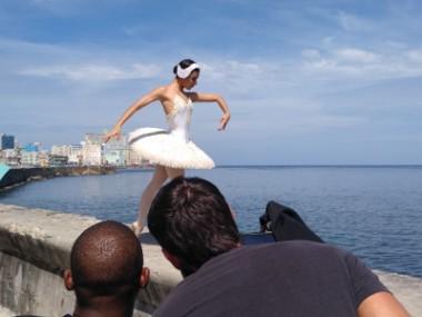 El Ballet Nacional de Cuba empasta perfectamente con la visualidad de La Habana en sus 500 años. Foto del autor