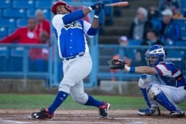 La selección cubana de béisbol logró hoy su primera victoria en la Liga Can-Am 2019