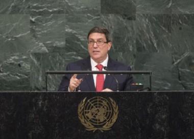 Bruno Rodríguez Parrilla en el 72 Período de Sesiones de la Asamblea General de la ONU. Nueva York, 22 de septiembre de 2017