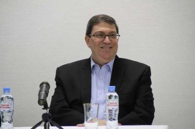 ministro cubano de Relaciones Exteriores, Bruno Rodríguez Parrilla