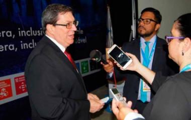 Entrevista del Ministro de Relaciones Exteriores de Cuba, a Telesur y Prensa Latina, al culminar la Cumbre Iberoamericana, Guatemala, el 17 de noviembre de 2018.