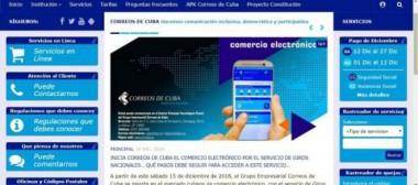 Nuevo portal de Correos de Cuba para facilitar el pago electrónico.