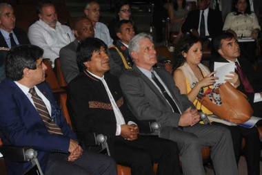 Evo Morales y Miguel Díaz-Canel