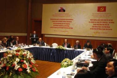 Seminario teórico con autoridades de la organización homóloga de Vietnam