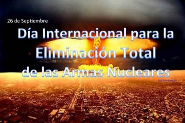 Imagen alegórica al Día Internacional sobre la eliminación total de las armas nucleares
