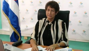 a ministra de Educación, Dra. Ena Elsa Velázquez Cobiella. Foto: Twitter de la Ministra.