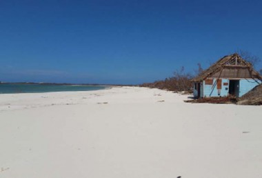Playa Flamenco, posterior al embate del huracán