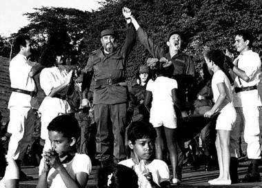 Fidel y Raúl en Cinco Palmas
