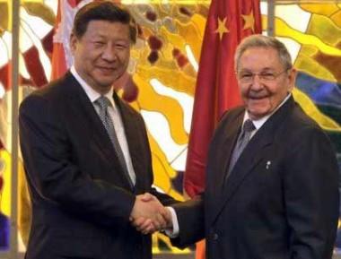 Raúl Castro junto a Xi Jinping