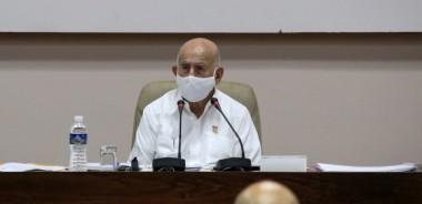 José Ramón Machado Ventura, Segundo Secretario del Comité Central del Partido Comunista de Cuba (CCPCC), asiste a la comisión sobre el funcionamiento y trabajo ideológico en el VIII Congreso del Partido Comunista de Cuba. Foto: Ariel Ley / ACN