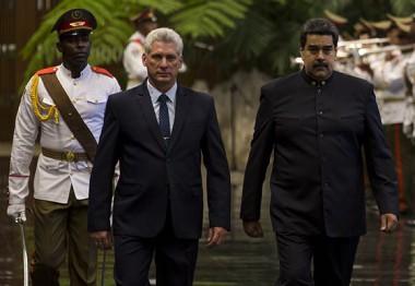 Recibió Miguel Díaz-Canel a su homólogo venezolano Nicolás Maduro. Foto: Irene Pérez/ Cubadebate.