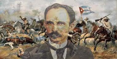 Figura de Martí junto a los mambises