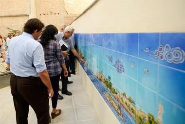 Mural de azulejos donado por la República de Turquía se suma a los atractivos que de por sí ya tiene esa zona de la parte más antigua de la ciudad