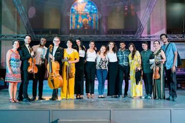 músicos de la Orquesta de Minnesota, Estados Unidos, comparten escenario con profesores del ISA.