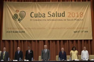 Díaz-Canel preside inauguración Convención de Salud. Foto: Estudio Revolución