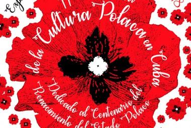 Banner alegórico a la celebración de la Semana de la Cultura Polaca en Cuba